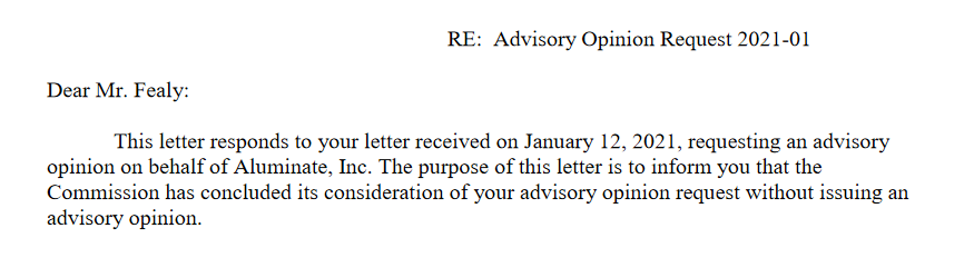 FEC Advisory Opinion